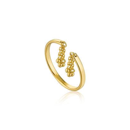 Gold Tassel Drop Adjustable Ring