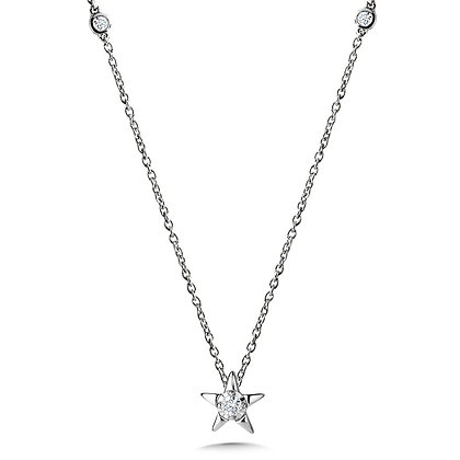 Star-Shaped Diamond Star Necklace