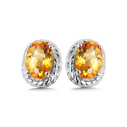 Citrine Earrings in Sterling Silver