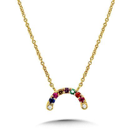 Mixed Gemstone Rainbow Necklace