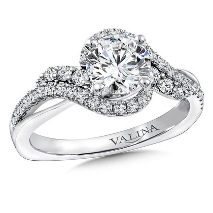 SPIRAL STYLE DIAMOND ENGAGEMENT RING