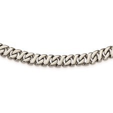 Stainless Steel Polished Link 24in Necklace