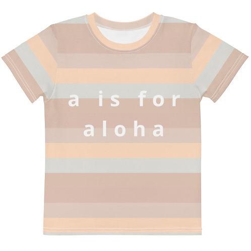 """Keanu """"a is for aloha"""" Kids Tee"""