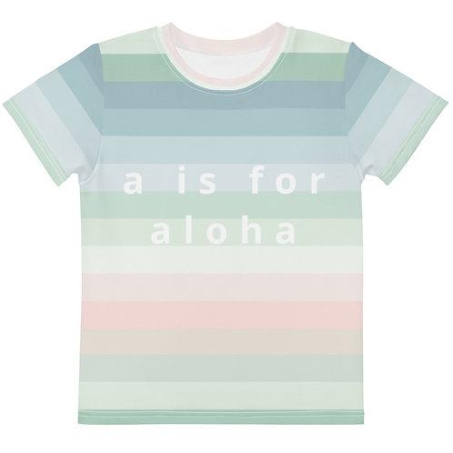 "Isla ""s is for aloha"" Kids Tee"