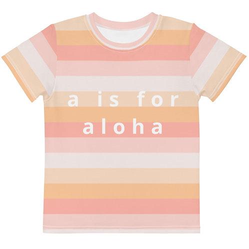 """Moana """"a is for aloha"""" Kids Tee"""