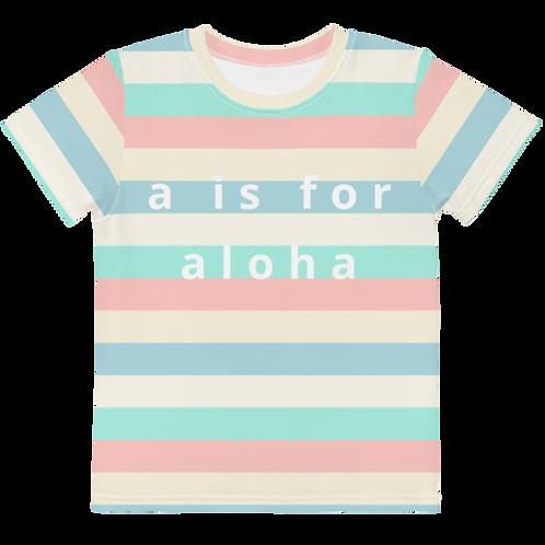 "Carrie ""a is for aloha"" Kids Tee"