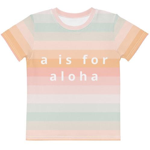 """Leilani """"a is for aloha"""" Kids Tee"""