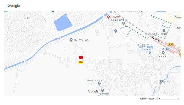 二上駅前地図