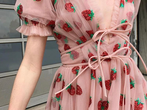 How Do You Escape A Pandemic? With A Strawberry Dress