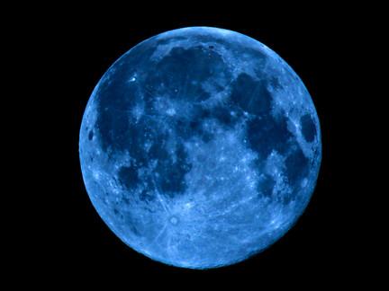 Happy Halloween!! Tonight's Blue Full Moon Says Hello!