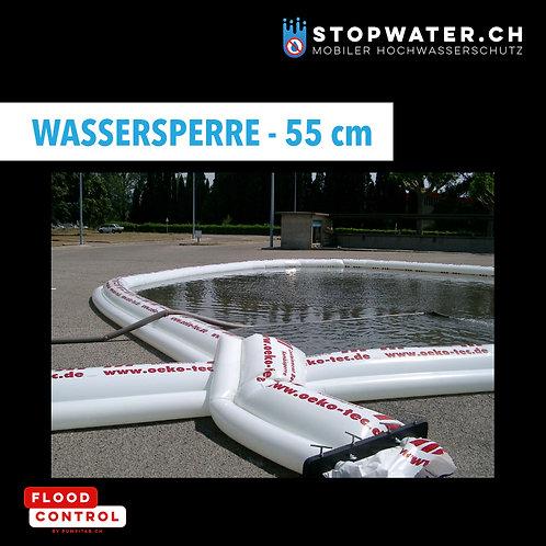 Wassersperre - Doppelkammerschlauch 150 m / Stauhöhe 55 cm