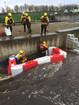 Floodstop Wassersperren im Einsatz