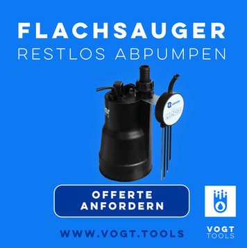 FLACHSAUGER FSP 330 I Das Flachsaugset ost überall einsetzbar I Jetzt bei vogt tools I Mobiler Hochwasserschutz Schweiz
