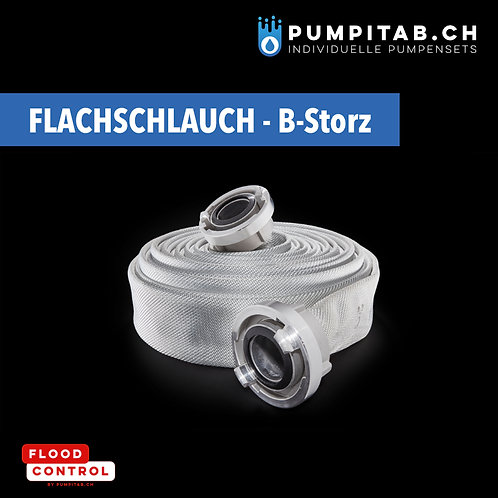 Flachschlauch-Set mit B-Storz T2F I B/75 - ID 75 mm