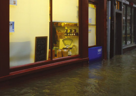 Fowey Quay Bakery - Einsatz Floodgate