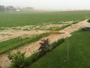 Oberflächenabfluss - Überschwemmung durch Starkregen