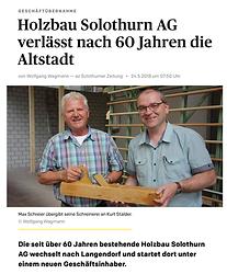 Schreinerei Langendorf AG I Übergabe Holzbau AG I Hobelübergabe