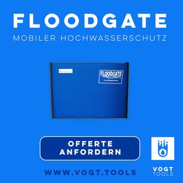 Floodgate-Wassersperre für Türen, Fenster und Tore bie vogt tools I Mobiler Hochwasserschutz Schweiz