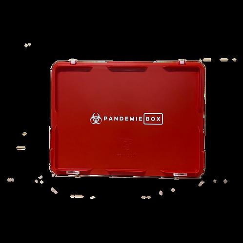 PANDEMIEBOX 10 Liter rot zum Befüllen I Ohne Inhalt mit Beschriftung