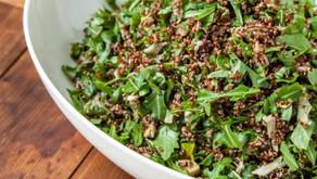Herbed Quinoa salad with zesty lemon dressing