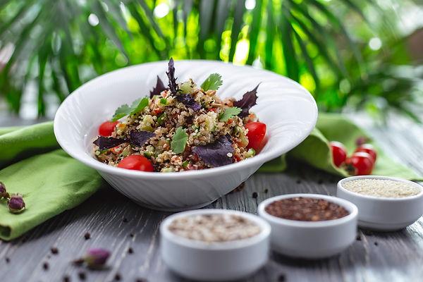 side-view-quinoa-salad-with-tomato-cucum
