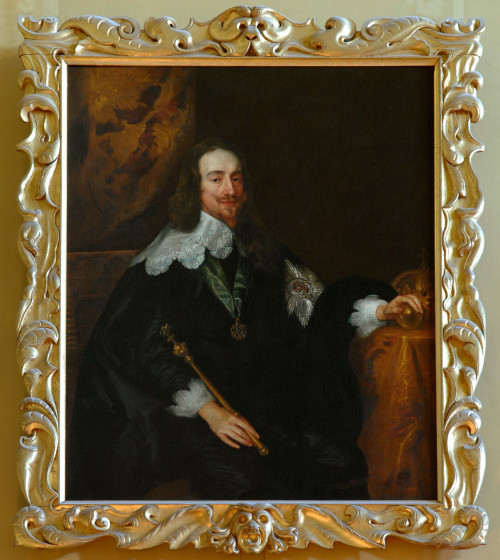 Borrowed From: Auriculer Style: Frames Blog:  Studio of Sir Anthony van Dyck (1599-1641), Charles I, late 1630s, o/c, 54⅝ x 43¾ in (138.7 x 111.1 cm), in its original carved & gilded Auricular frame, Kingston Lacy, Dorset, NT 1257097