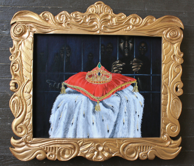 Crown of Bullets Painting: Finished & Framed by SerahA
