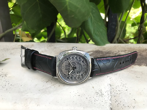 KEROX WATCH CO. MM ENGRAVED SKULL