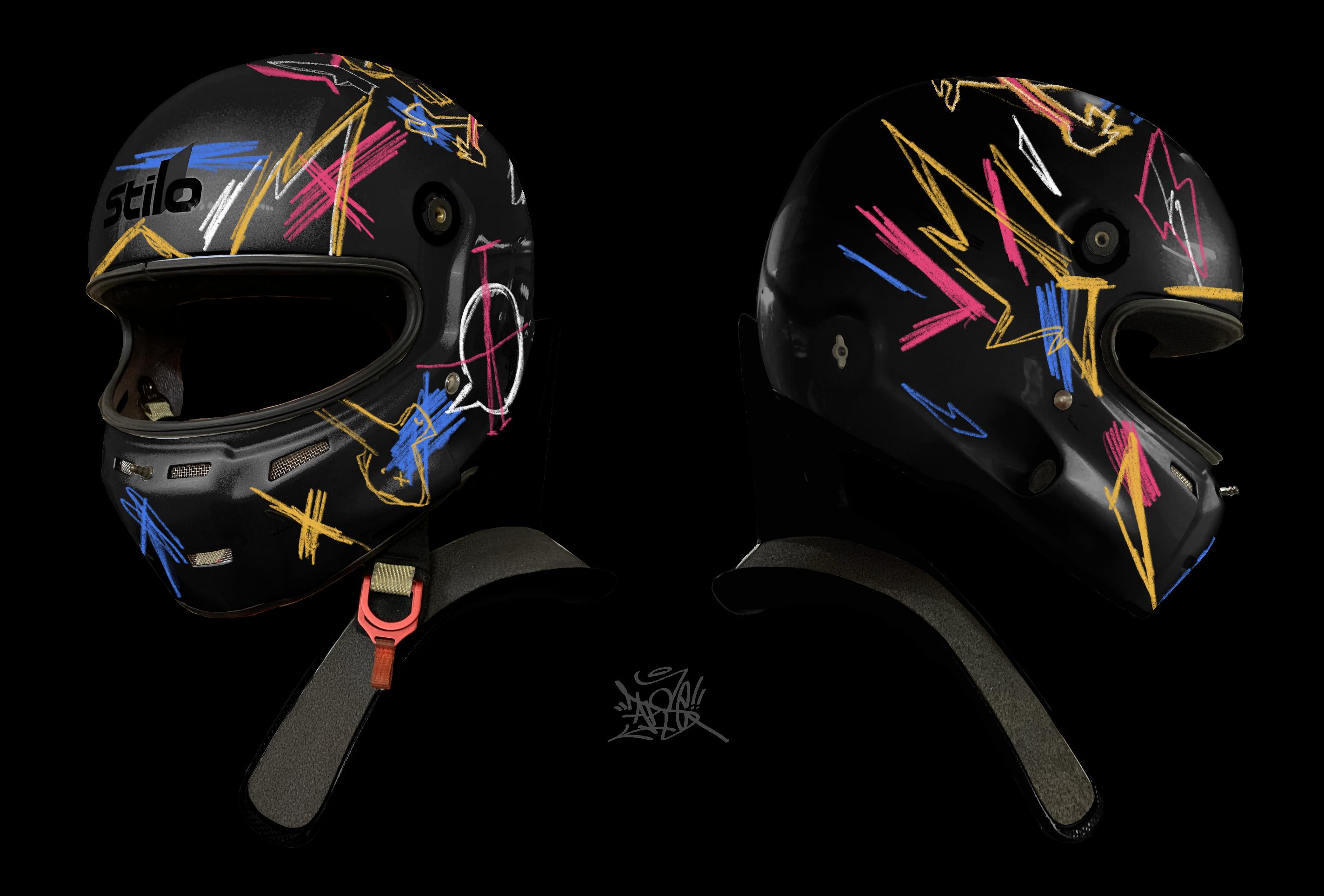 Graffiti Racecar Helmet