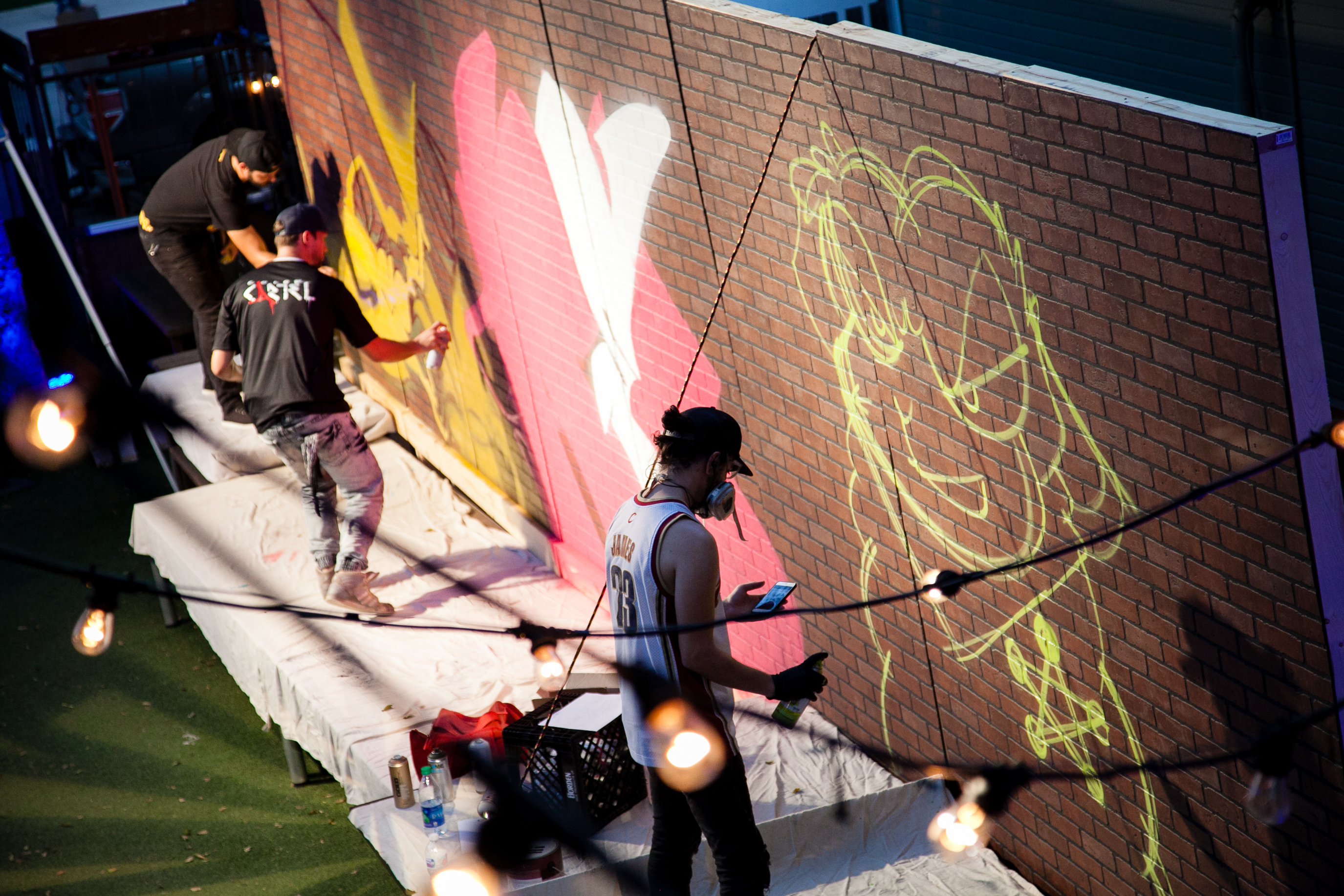 Graffiti Artists Painting Live