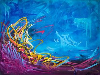 Graffiti Tsunami Canvas