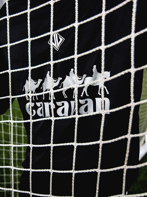 A4 Coach Javi X Caravan Fabrics Collaboration Training Top (Black/Silver)