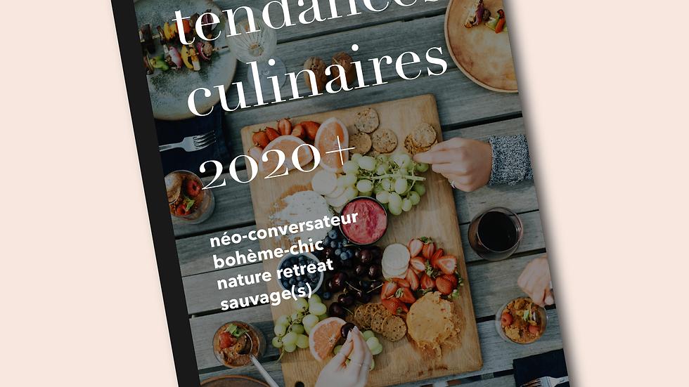 Cahier de tendances culinaires 2020+