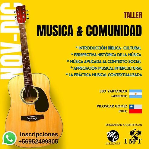 Taller MUSICA & COMUNIDAD