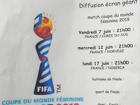 Diffusion écran géant Coupe du monde de football féminine 2019