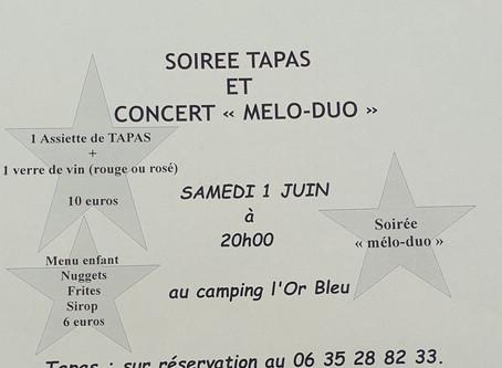 Soirée Tapas et MELO-DUO