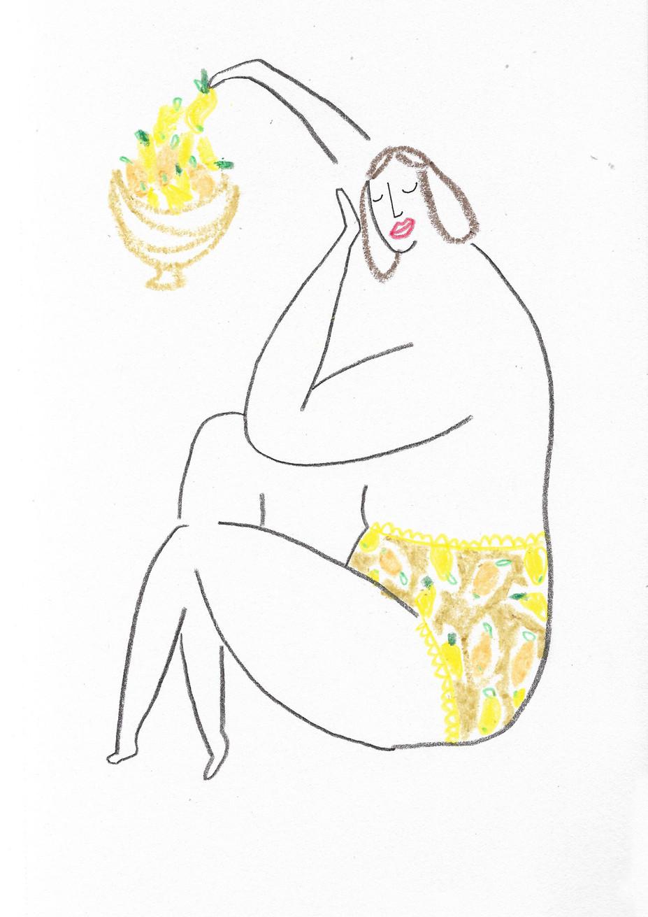 Lemon Pants Girl