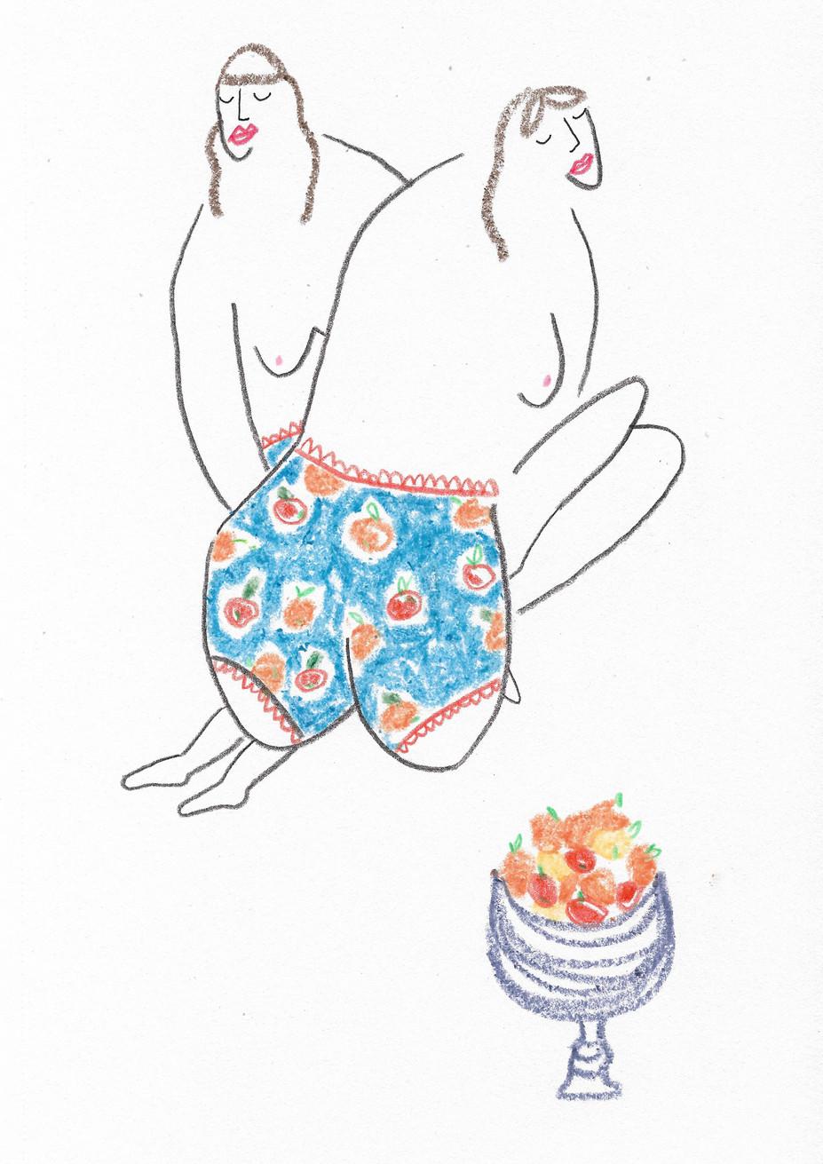 Orange Pants Girls