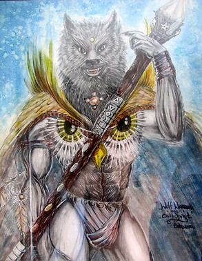 Wolf Warrior Owl Spirit