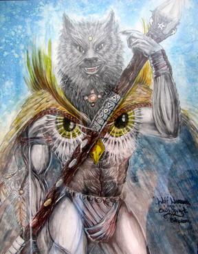 Wolf Warrior Owl Spirit