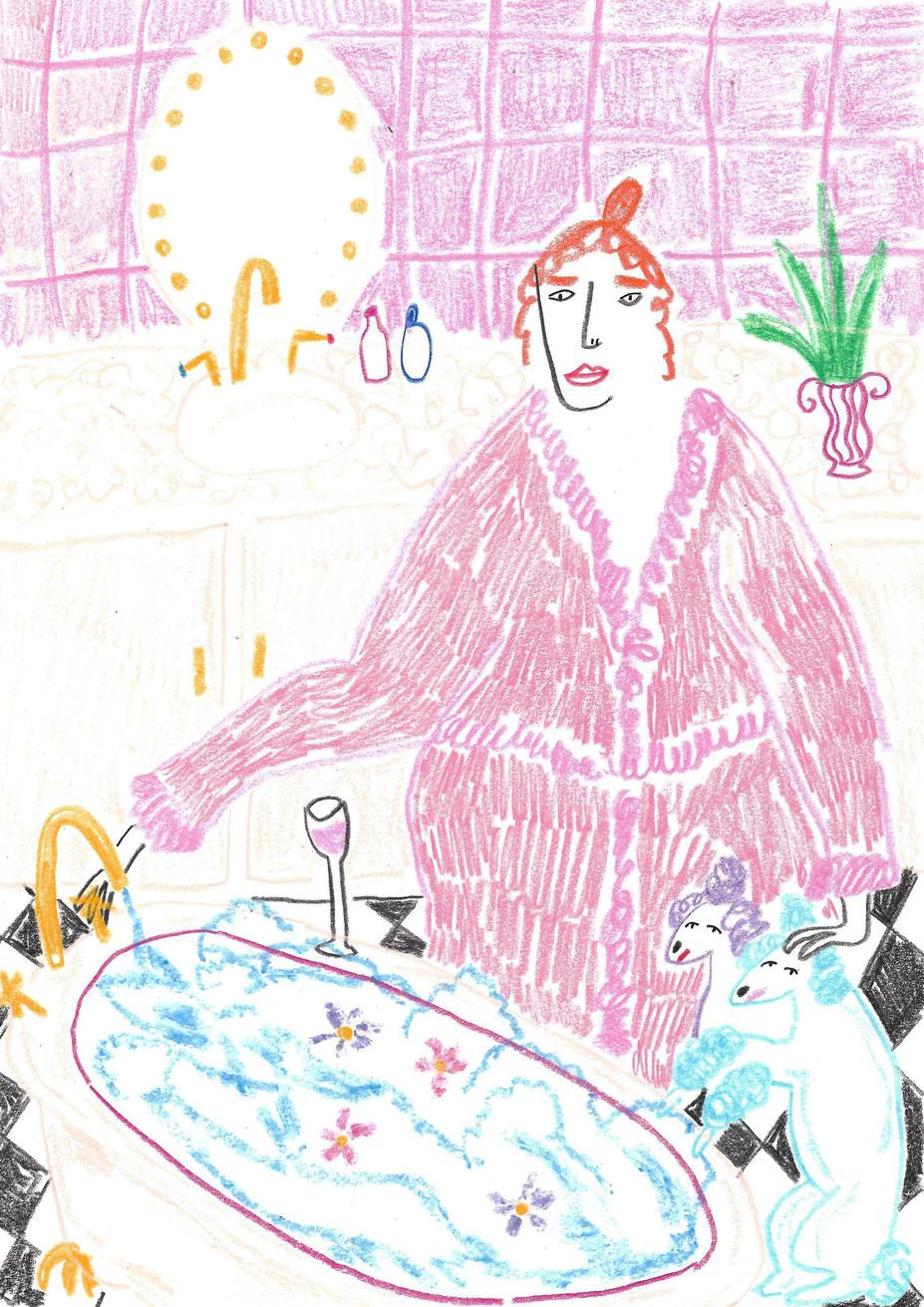 Pink Bath Lady