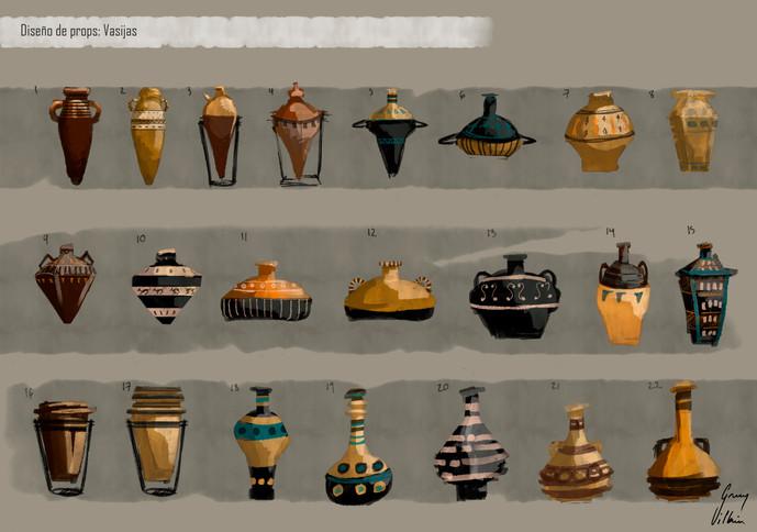 Diseño de props: Vasijas