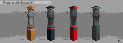 Columnas: Pruebas de color