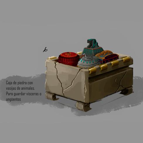 Diseño de props: Caja funeraria