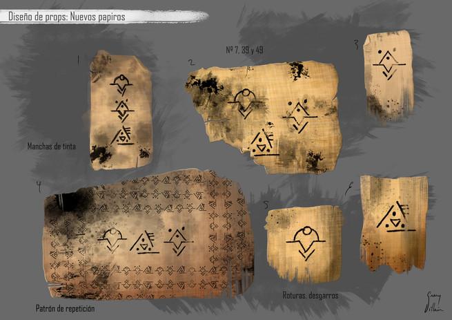 Diseño de props: Papiros