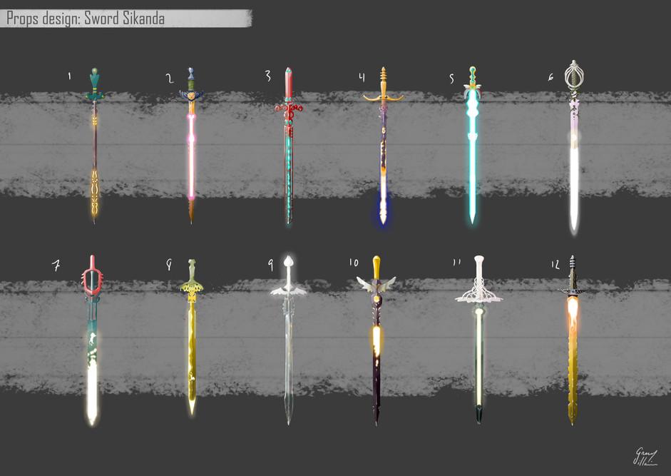 Diseño de props: Espada Sikanda