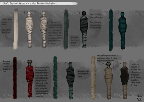 Diseño de props: Momias