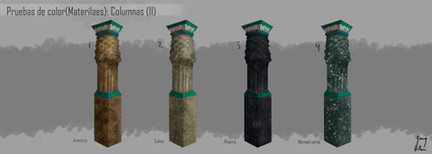 Columnas: Pruebas de material