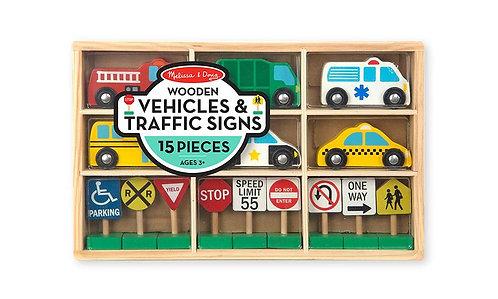 Set vehículos y señales de transito