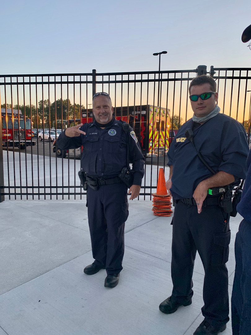 Middlebury Officers at the football game
